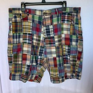 Men's Polo by Ralph Lauren Madras Shorts Size 38